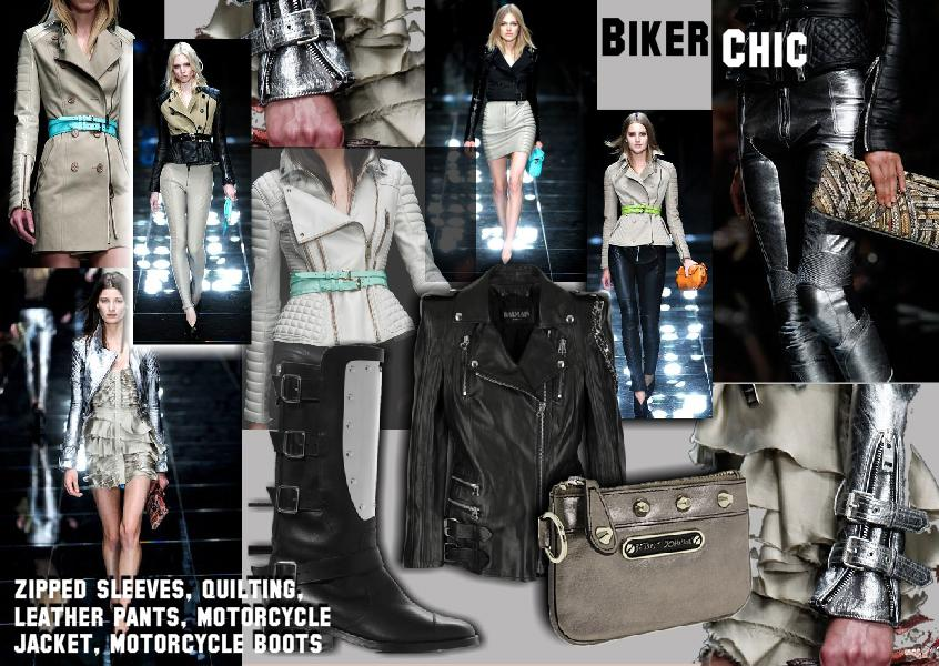 biker fashion 2011 motorcycle chic trend sampleboard blog