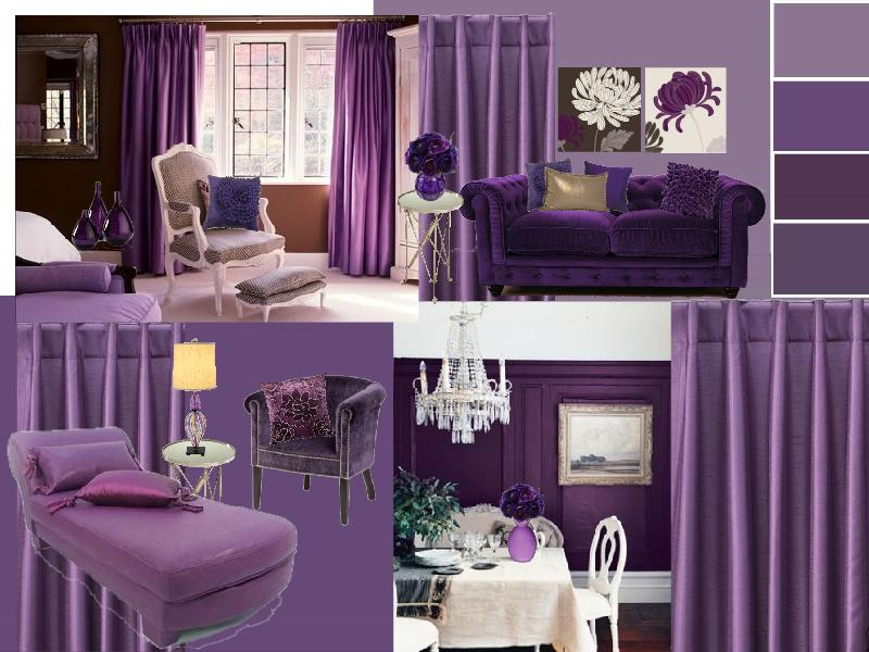 Interior Design Creating A Purple Color Scheme Sampleboard Blog