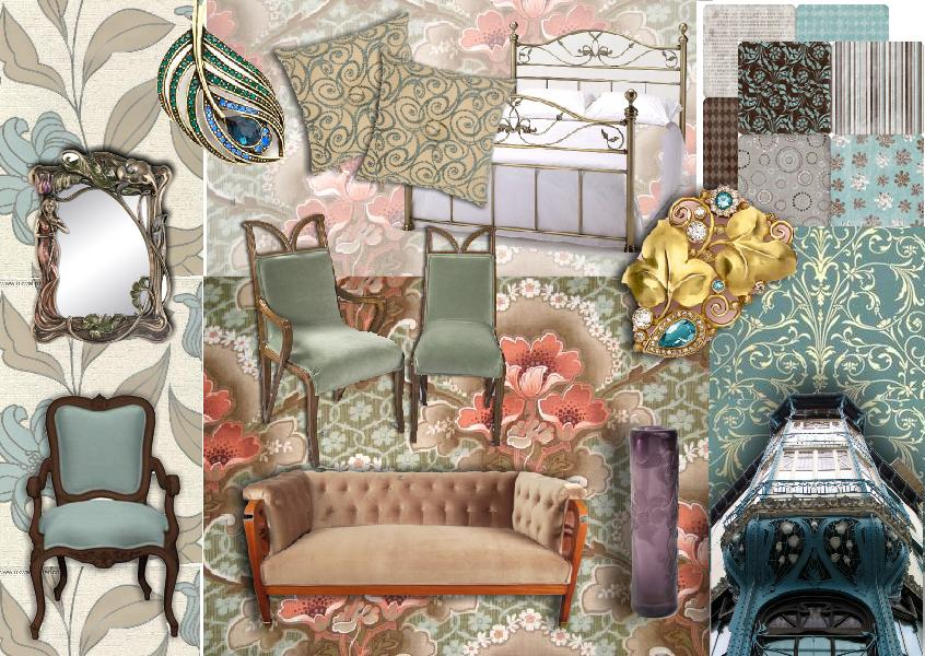 Sampleboard art nouveau style how to create the art - Decorating art deco style ...