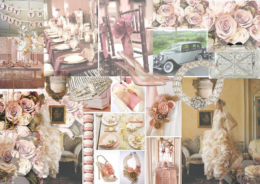 Wedding planning inspiration  Vintage style moodboards - SampleBoard