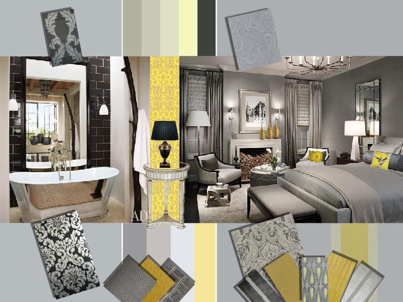 Trendy Grey Yellow Interior Design As A Wedding Color