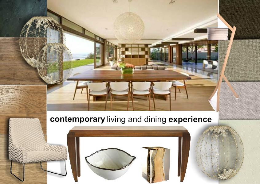 Contemporary Living & Dining Interior Design