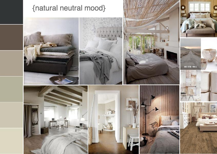 natural neutral interior design mood board