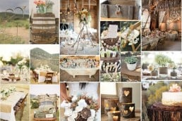 rustic wedding inspiration board
