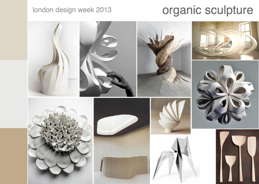 London design week 2013 organic scultpure mood board