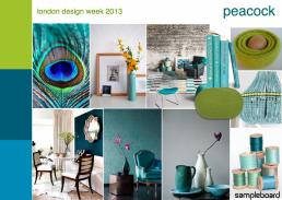 London design week 2013 peacock mood board 1