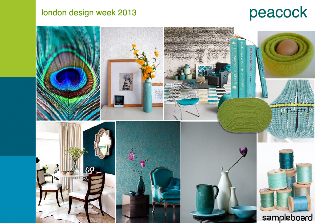 London design week 2013 peacock mood board 1