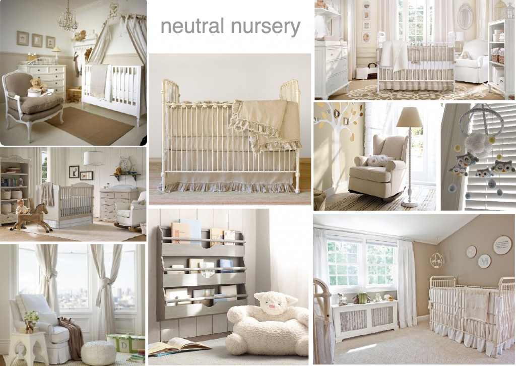 neutral nursery mood board