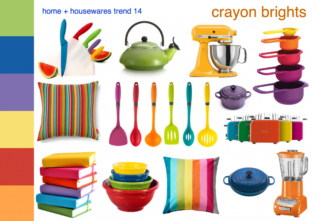 home housewares trend crayon brights mood board