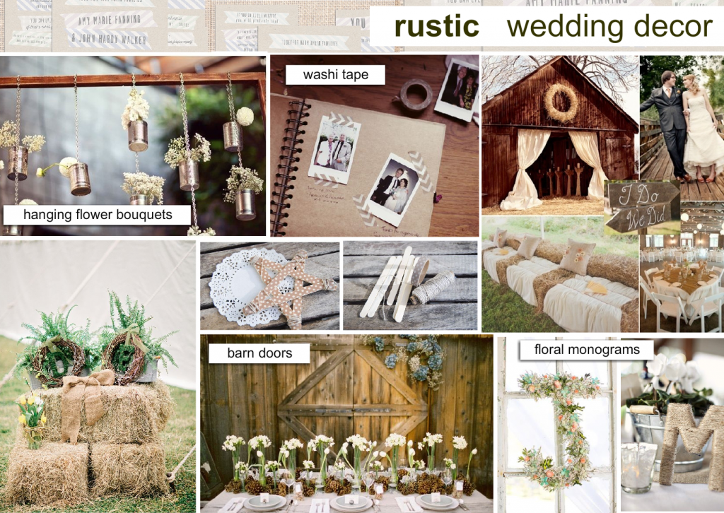 Rustic Wedding Decor Mood Board