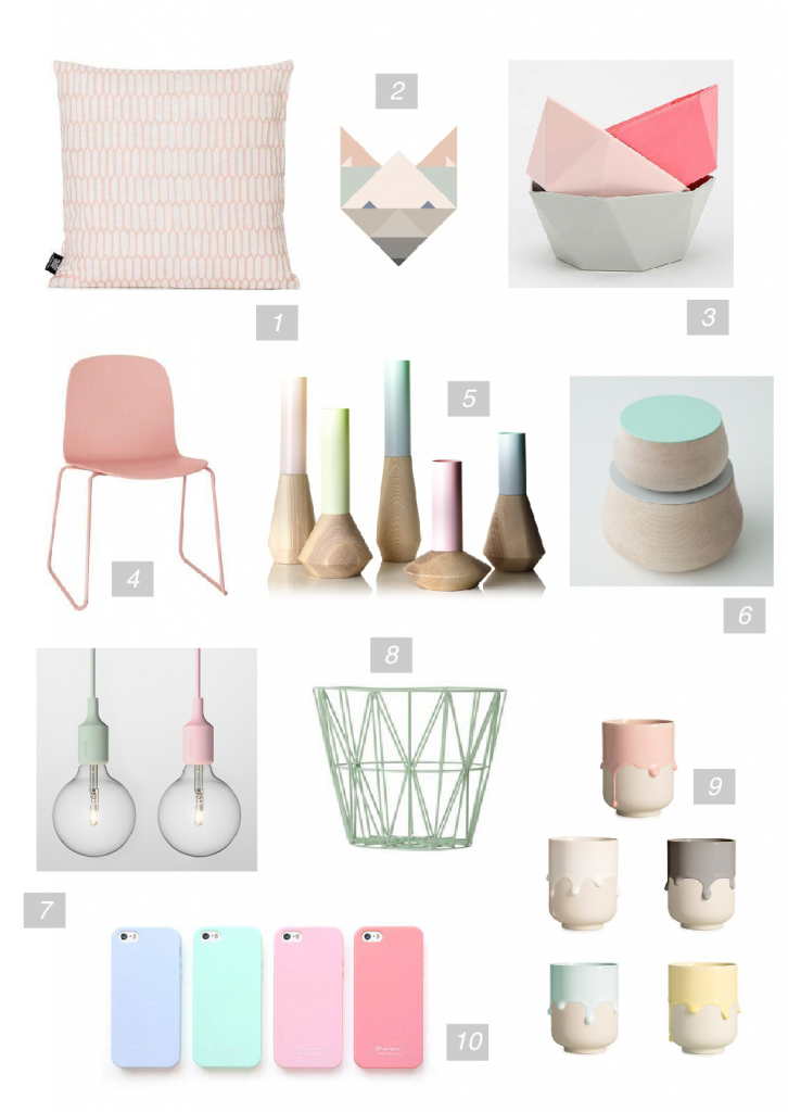Pastel Trend Mood Board created on www.sampleboard.com