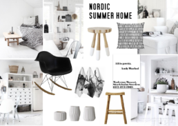 Nordic Summer Home Interior Moodboard created on www.sampleboard.com