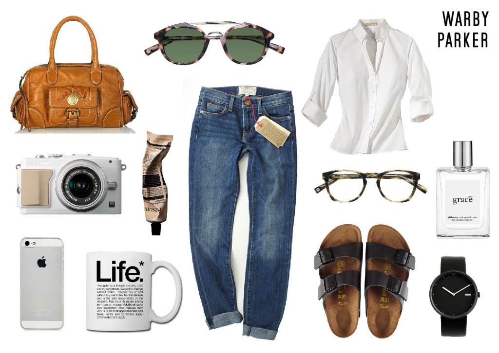 Warby Parker glasses mood board created on www.sampleboard.com