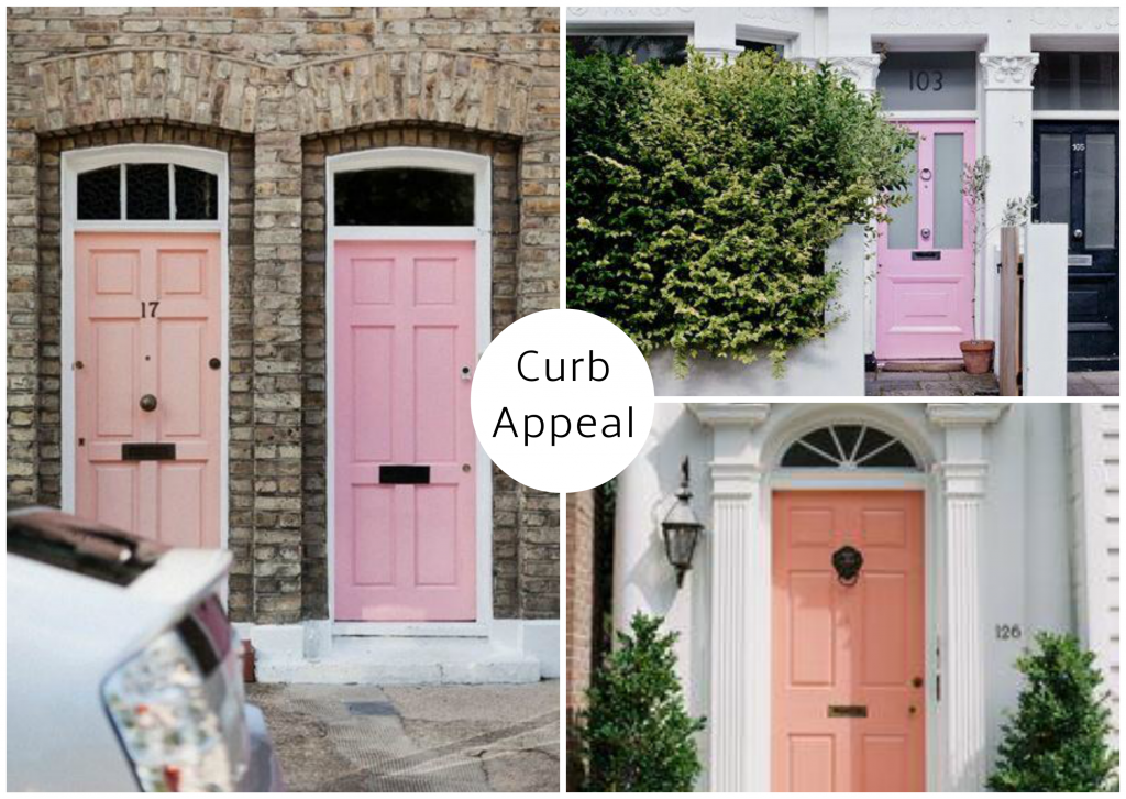 Pale Pink Curb Appeal moodboard created on www.sampleboard.com