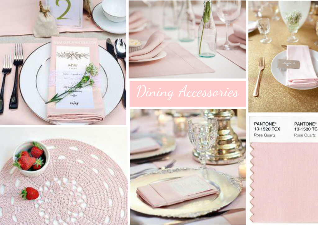 Pale Pink Dining Accessories moodboard created on www.sampleboard.com