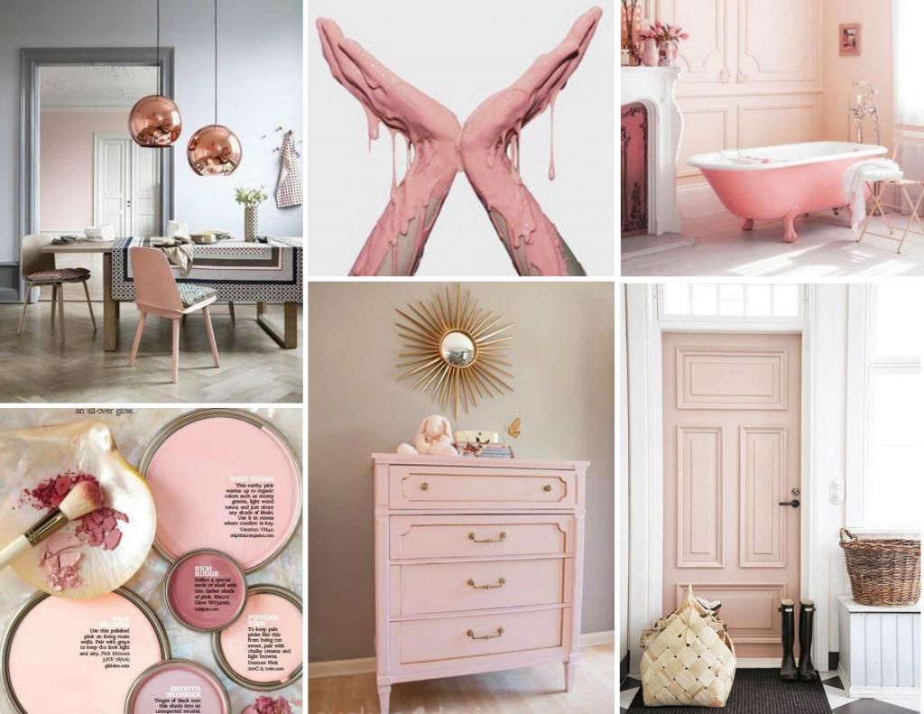 Pale pink moodboard created on www.sampleboard.com