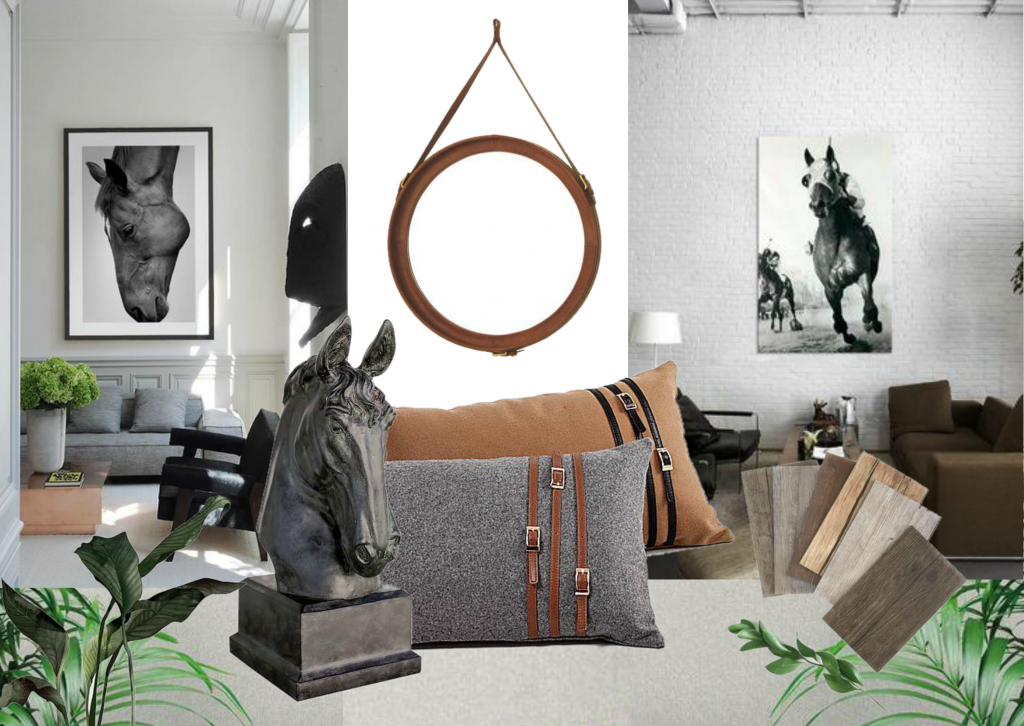 Horse Inspired Decor Sampleboard