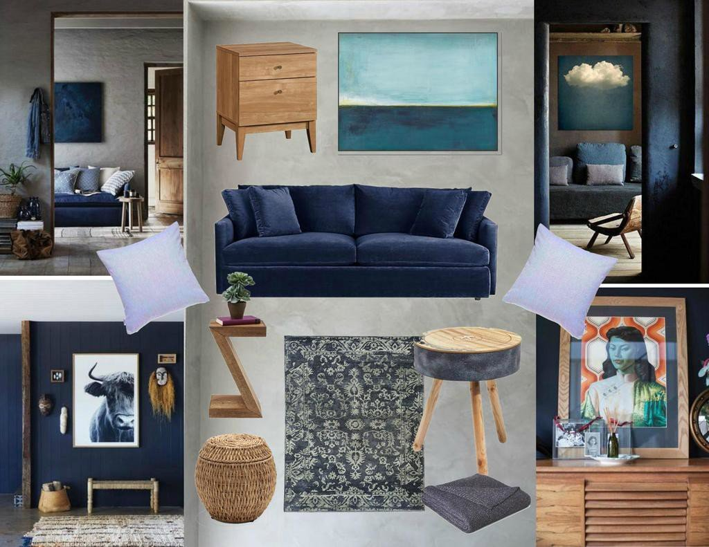 Trend Alert: Dark and Moody Interiors - Sample Board