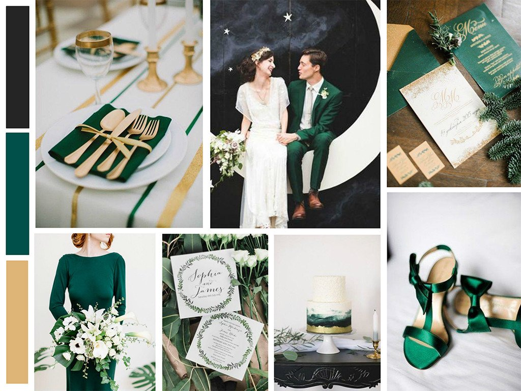 emerald wedding theme