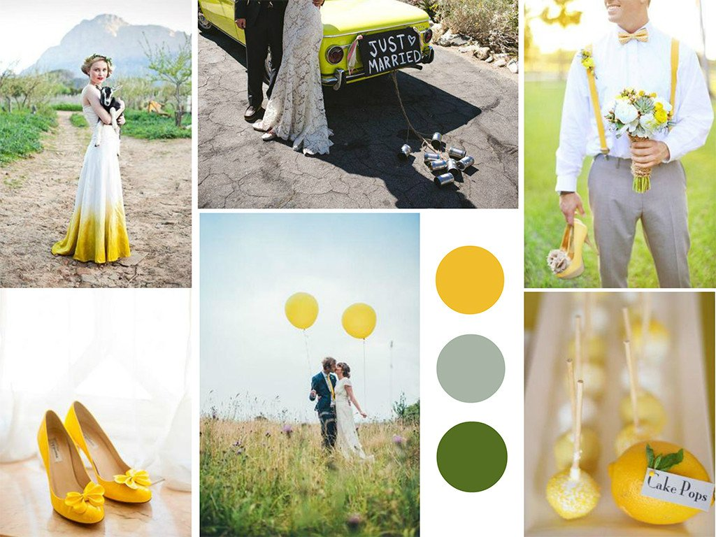 mustard wedding theme
