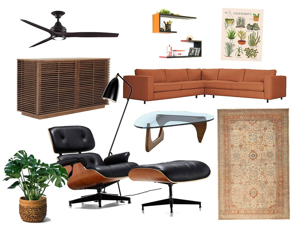 Eames lounge chair mood board