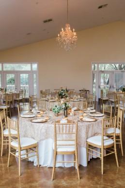 golden wedding decoration