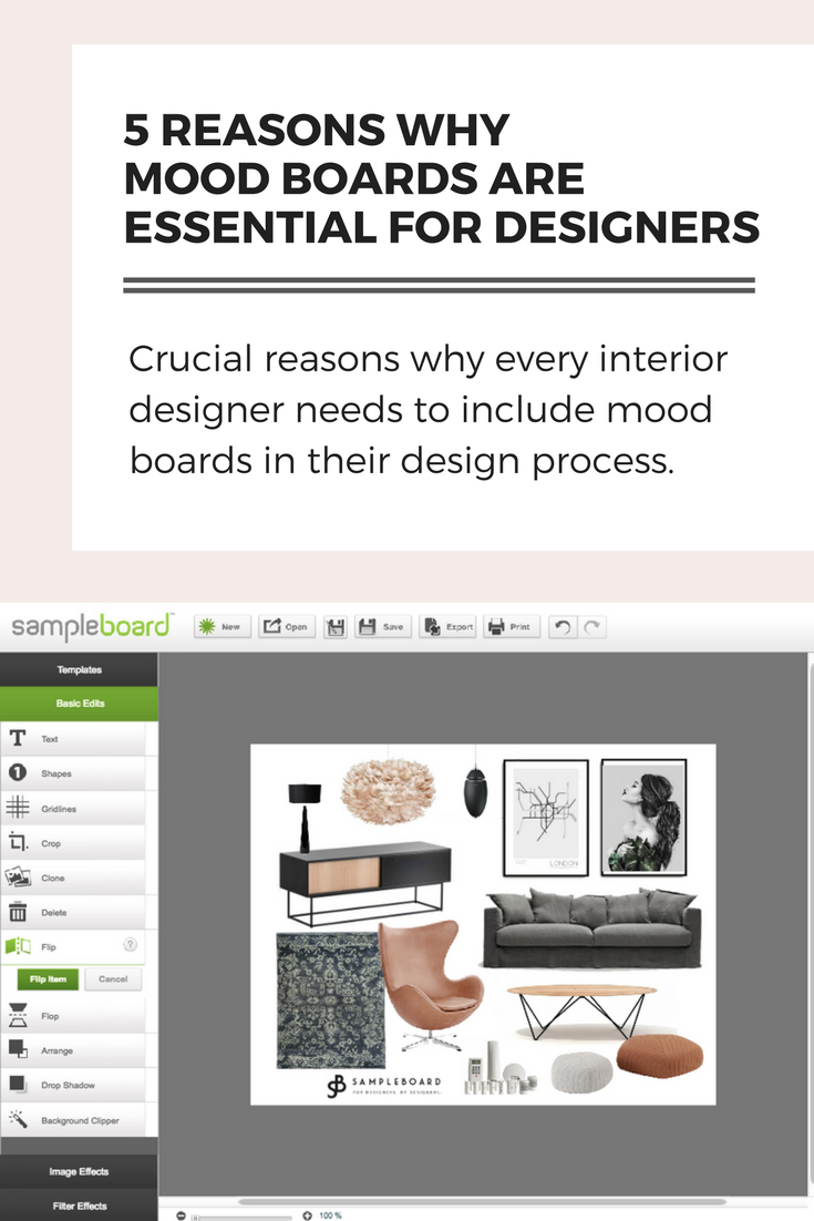 mood board interior design -SampleBoard