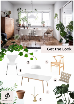 Get the Look: Bright Scandinavian Apartment with a Lavish Climber - SampleBoard Blog - Second home for interior designers