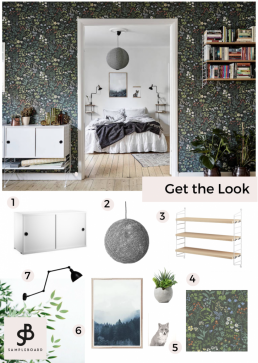 Get the Look: Charming Scandinavian Apartment with Floral Motifs - SampleBoard - Second home for interior designers