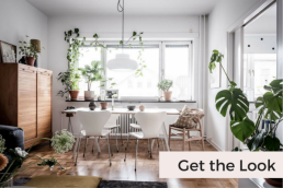 Get the Look: Bright Scandinavian Apartment with a Lavish Climber - SampleBoard Blog - A blog about professional moodboard building, global design trends & creative inspiration for your next design project