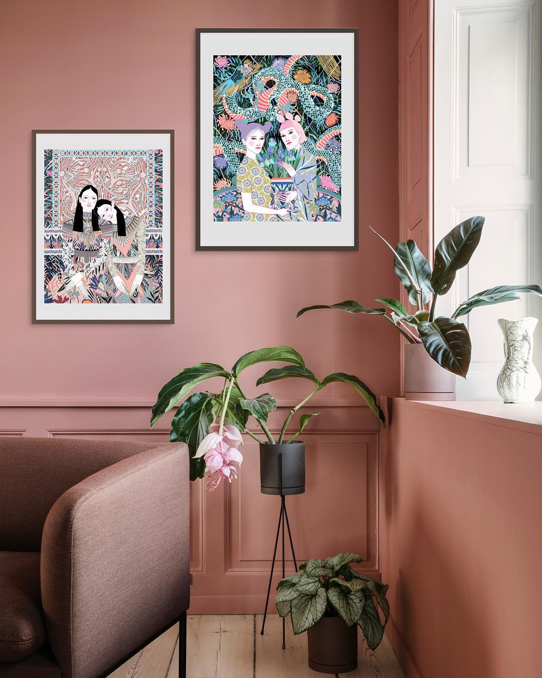 Trend Alert: Feminine Art Prints for Creative Plant Lovers - SampleBoard Blog
