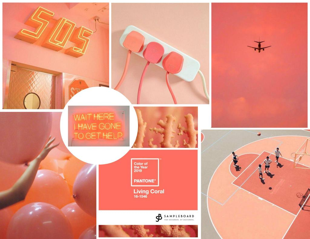 Living Coral - Pantone color of the year for 2019 comes with a Warning - SampleBoard