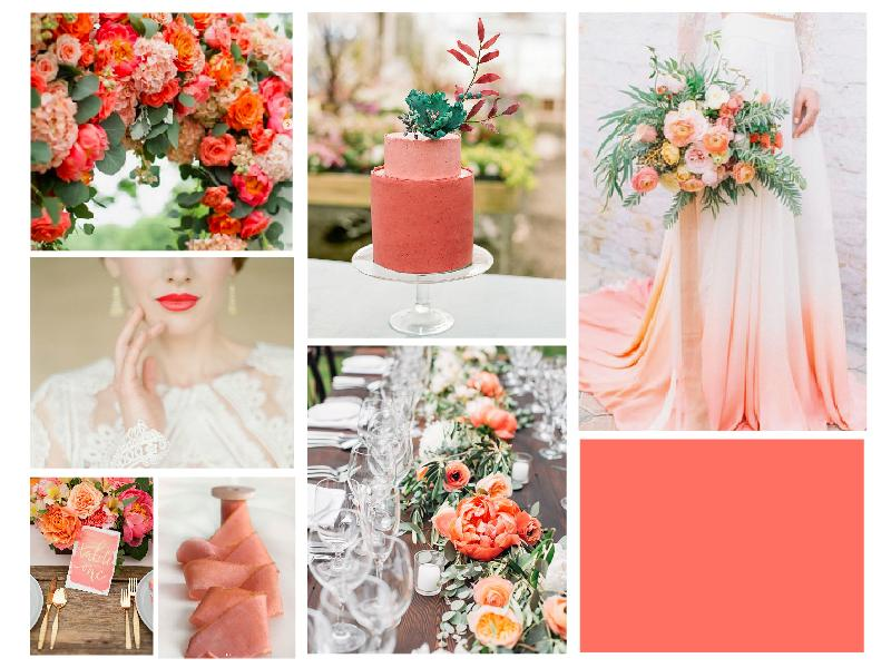 Living Coral - Pantone color of the year for 2019 comes with a Warning - wedding board - SampleBoard