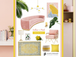 Gen Z Yellow and Millennial Pink: Trending Interior Color Combo - SampleBoard Blog