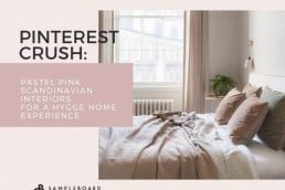 Pastel Pink Scandinavian Interiors for a Hygge Home Experience
